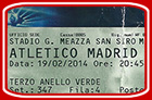 San Siro, AC Milan - At. Madrid, 2014